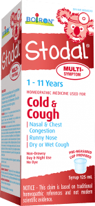 Children's Stodal Multi-Symptom is a homeopathic medicine used for cold symptoms such as nasal congestion, runny nose, sneezing; minor sore throat, dry or wet cough, chest congestion.