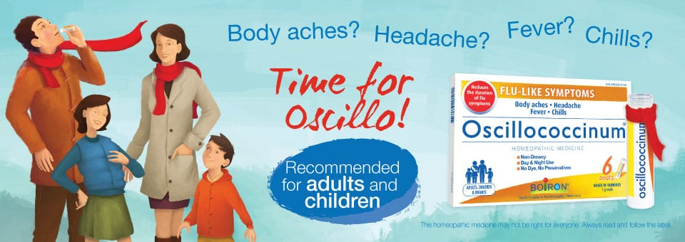 This homeopathic medicines relieves flu-like symptoms
